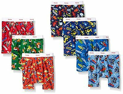 Hanes Toddler Boys Assorted 7 Days Of The Week Cotton Boxer Brief Set of 7 4T