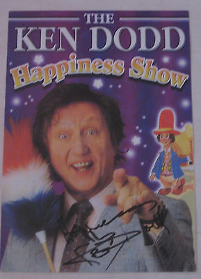 Ken Dodd - Hand Signed Flyer From His Happiness Show 2005