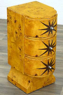Art-Deco Kommode Jazz-Age Nighstand Commode, Nachttisch Konsole, Drawer Chest