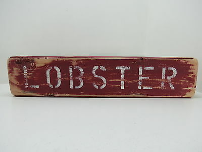 16 Inch Wood Hand Painted Lobster Sign Nautical Maritime Seafood (#s718)