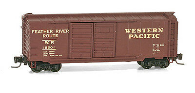 NIB Z MTL #50100210 40' Double Door Boxcar Western Pacific #18501