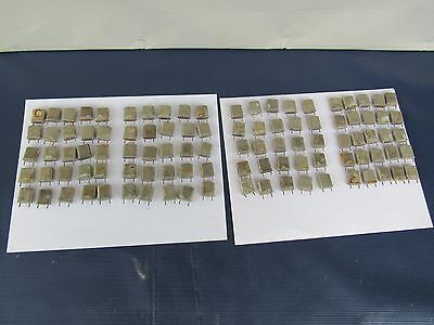 Vintage lot of 100 Ham Radio Communication Military Transmit Crystals Untested
