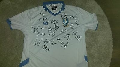Superb Sheffield Wednesday Away Shirt Signed By 22