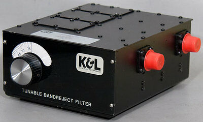 K&L/MPG 3TNF-30/76-N/N Tunable Notch Bandreject Microwave Filter 30-76 MHz