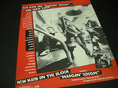 NEW KIDS ON THE BLOCK are HANGIN' TOUGH and TAKIN' OVER 1988 Promo Display Ad