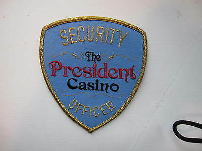 "DEFUNCT  The President Casino Security  Biloxi, Mississippi   ""light blue cloth:"