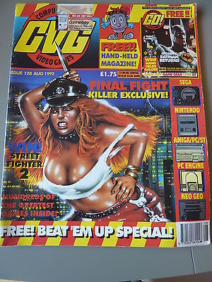 Computer And Video Games Magazine C&VG : Aug 1992 Issue 128  Final Fight