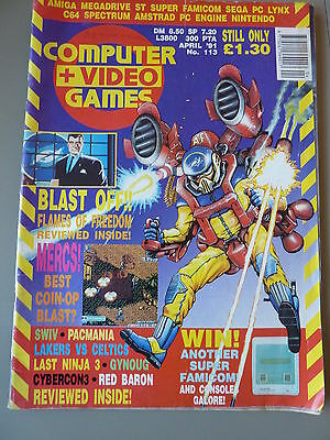 Computer And Video Games Magazine C&VG : April 1991  Issue 113 Flames Of Freedom