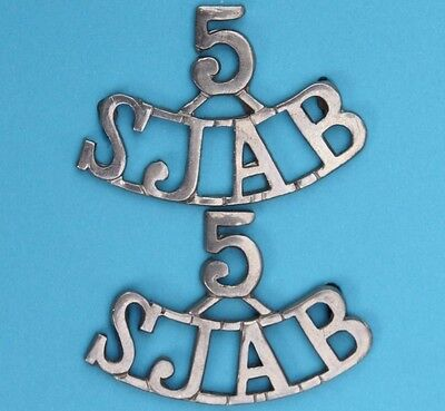 THE  ST.  JOHN  AMBULANCE  ASSOCIATION  <> ' 5 ' S . J . A . B .  Uniform Badges
