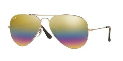 Ray-Ban Women's Rainbow Aviator Gold Lens Bronze-Copper Frame RB3025 9020C4 58mm