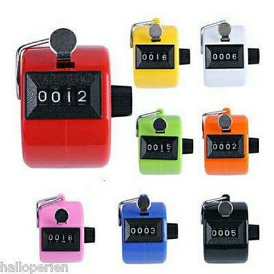 4 Digit Colful Digital LCD Electronic Hand Tally Counter For Tasbeeh Golf Dock