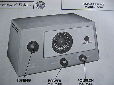 Hallicrafters S-94 Receiver Photofact Photofacts