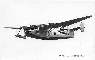 1938 France Potez - CAMS 141 Flying Boat Unused Military Aircraft RP Postcard