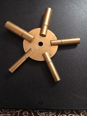 Clock Winding Bench Key Brass Sizes  2 4 6 8 10 Winder 5 Star