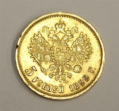 1899 Russia 5 Roubles Gold coin EF45 authentic and original