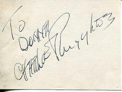 Charles Charlie Ruggles Actor In The Andy Griffith Show Signed Page Autograph