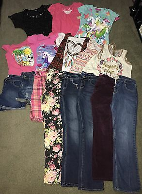 Huge 17 Piece Lot Of Girls 10/12 Summer Clothes ( Back To School)
