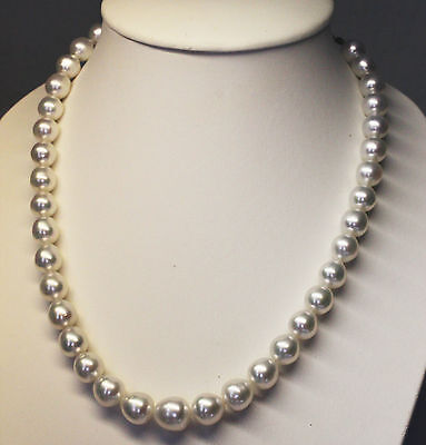 SOUTH SEA PEARL 14.6mm!! NECKLACE 100% UNTREATED COLOUR +18ct GOLD CLASP +CERT
