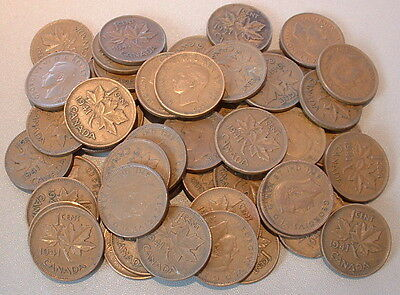 CANADA  1 CENT 1941  VG to F+ ****50 pcs lot*****