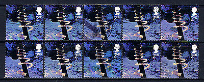 Great Britain #2165(5) 2003 2nd Christmas - Ice Spiral 10 Used