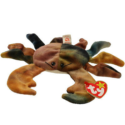 TY Beanie Baby - CLAUDE the Crab (7.5 inch) - MWMTs Stuffed Animal Toy