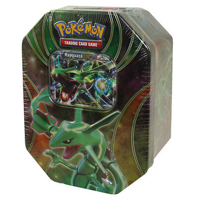 Pokemon XY - 2015 Collectors Tin Set - Powers Beyond - RAYQUAZA EX - New Sealed