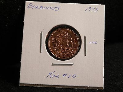 Barbados:   1973   One Cent  Coin  (Unc.)    (#2069)  Km # 10