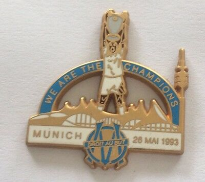 Pin's OM We Are The Champions Munich 1993 Coupe D'Europe Arthus Bertrand