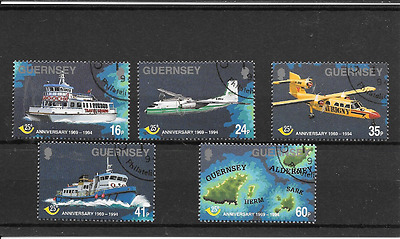 GUERNSEY 1994 Post Office Anniversary set used