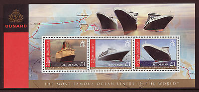 Isle Of Man 2008, Cunard Liners Miniature Sheet Fine Used