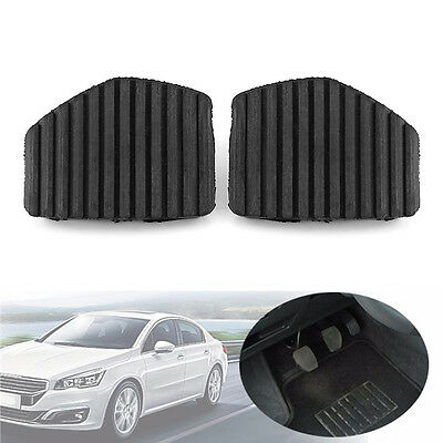 2x Car Clutch Brake Pedal Rubber Cover For Peugeot 1007 207 208 307 308 407 508