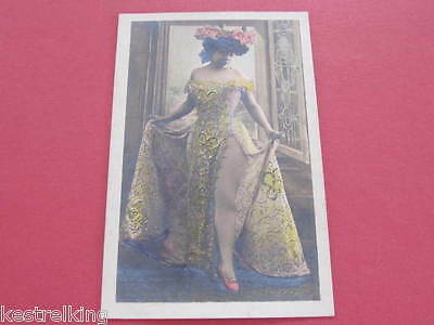 Glamour Risque Lady with Hat Postcard