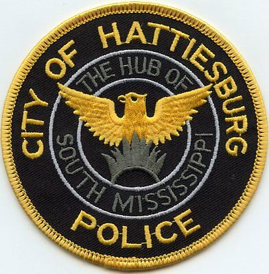 HATTIESBURG MISSISSIPPI MS The Hub of South Mississippi POLICE PATCH