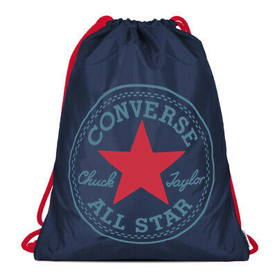 Converse Unisex Turnbeutel Cinch Bag Deep Navy Scarlet Red (dunkel blau) NEU