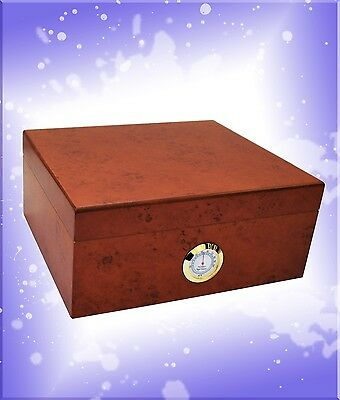 Burl Cigar Humidor 50 ct - New - Free Cutter