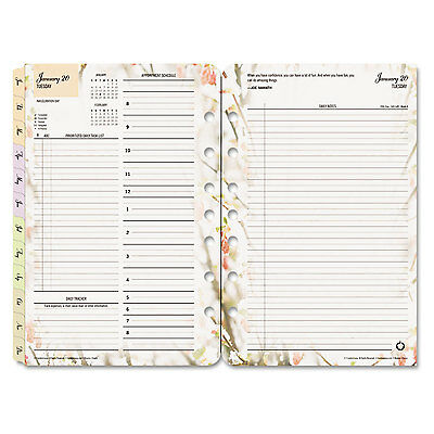 Blooms Dated Daily Planner Refill, January-December, 5 1/2 X 8 1/2, 2017-FDP3544