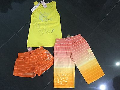 NWT Juicy Couture New & Gen. Cotton Shorts/Pants & T-Shirt Girls Age 8 & Logo