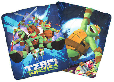 Teenage Mutant Ninja Turtles Fleece Blanket Boys Character Bed Throw Warm Winter