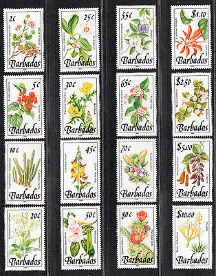 **Barbados, SC# 753-68 MNH VF Complete Set of Flowers, CV $57.75