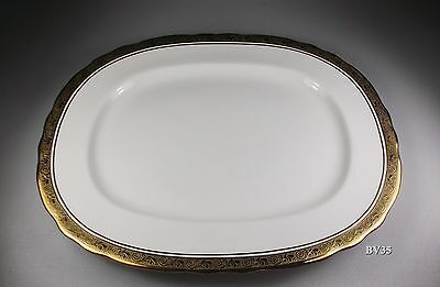 "AYNSLEY ARGOSY scalloped OVAL SERVING PLATTER  15 1/4"" -  PERFECT!"
