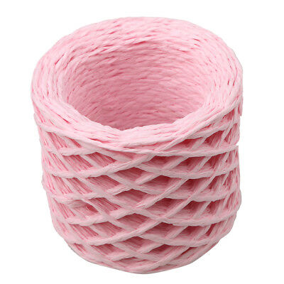 30 Metres Pink Twisted Raffia Paper Ribbon Crafts Gift Wrapping Scrapbook