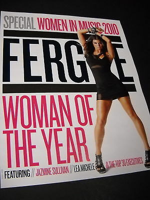 FERGIE Promo Poster Ad WOMEN IN MUSIC Woman Of Year