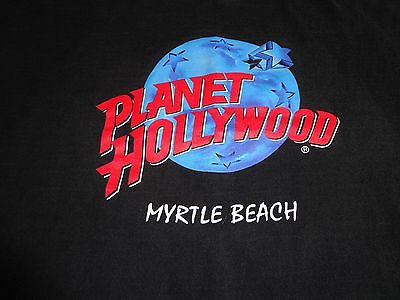Planet Hollywood Myrtle Beach t-shirt  Black Vintage Size Large   M7