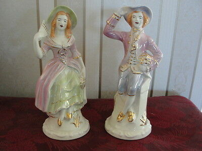 Victorian Couple Lady and Man Made in U.S.A.