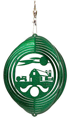 SWEN Products FARM CIRCLE TRACTOR Swirly Metal Wind Spinner