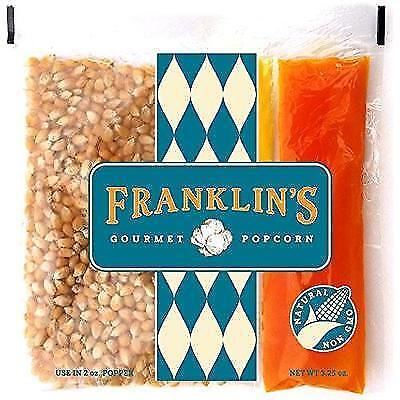 Franklin's Gourmet Movie Theater Popcorn. Organic Popping Corn, 100% Coconut New