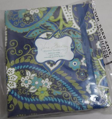 Vera Bradley Rhythm & Blues Pocket Traveler Address Book - New