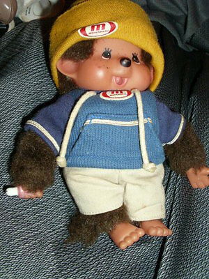 "Sekiguchi Monchhichi Boy Made in Germany 8"" in original outfit"