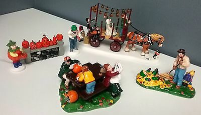 DEPARTMENT 56 Lot Of 3 Sets Halloween Collectible Snow Village Accessories SR