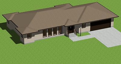 Ranch Style  House Plans Model 1500 *